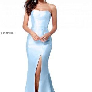 Sherri hill baby blue prom dress